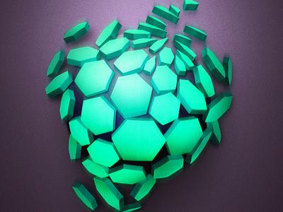 Collapsed Circle minimal broken futuristic clean geometric abstract digital art illustration scifi 3d