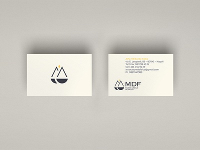 Lawyer Mirko De Falco - Visual identity visual identity art direction graphic design business card pictogram yellow blue logo branding