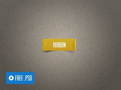 Freebie PSD: Ribbon aerolab argentina ribbon psd free freebie tag gold photoshop ui button free psd interface download ux share web call to action texture