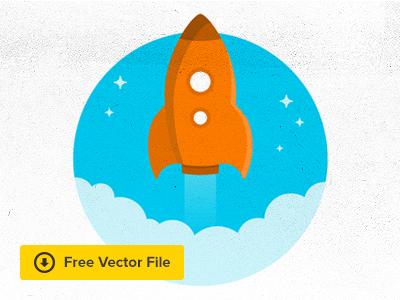 Rocket - FREE VECTOR argentina aerolab rocket freebie ui illustration ux drawing web free free psd illustrator vector