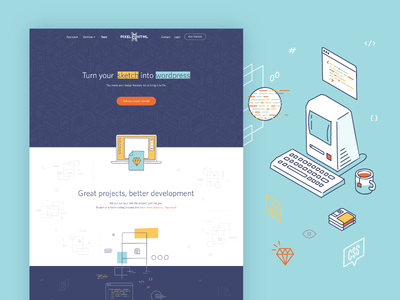 Pixel2HTML Case Study - Branding & Web Design