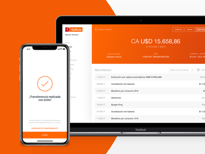 Banco Galicia Case Study - Product Thinking transactions finance payment online banking fintech ui web app ux case study