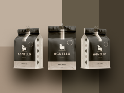 Agnello - Coffee Paclkaging roaster coffeeshop bag pouch label package cafe branding animal logo design logodesign cafe logo packaging cafe coffee lamb