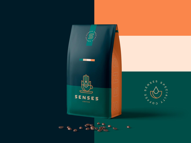 Senses - Coffee Packaging / Branding / Logo coffee shop coffee bean coffeeshop brand arabic hamsa saudi arabia branding design illustrator logodesign packaging coffee branding logo