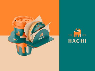 Hachi - Coffee Branding 01 animal logotype packaging mockup branding hachiko hachi shibainu akita shiba dog brand coffee logo