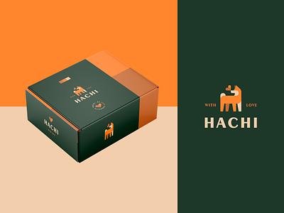 Hachi - Coffee Branding 02 food akita shibainu shiba brand branding design dog logo animal dog packaging package branding cafe coffee