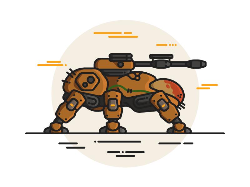Walker destiny the game destiny 2 destiny lineart line art scifi tank walker