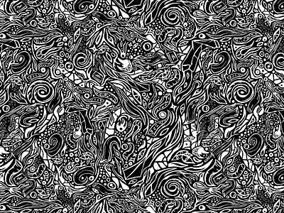 Zeshturi strange eyes dark fantasy mystery mysterious dark magic sea ground cthulhu deep sea tentacle dark gods dark god old gods old god lovecraft black-and-white digital pattern