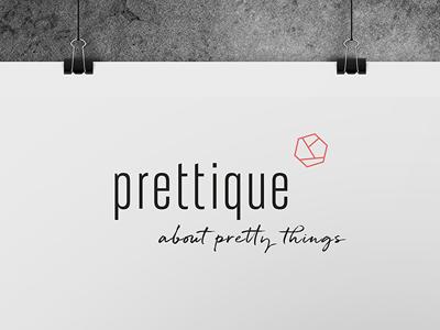 Prettique Logo corporate design typo branding logo