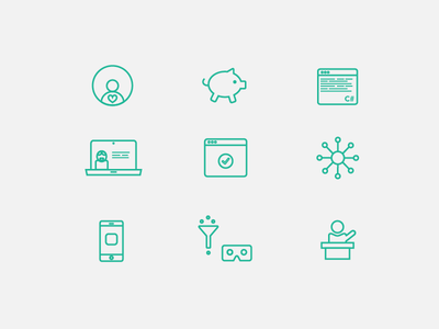 Selection of icons illustrator design icons