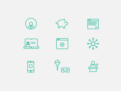 Selection of icons