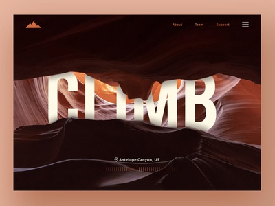 Climb UI photoshop climb website ux ui orange sketch type flat design