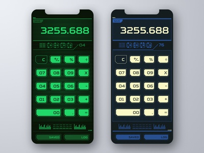 Daily UI Challenge #004 - Calculator green fallout76 fallout calculator retrofuturism future dailyui design ux interface ui app
