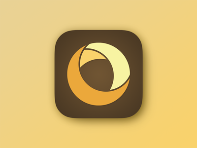 Daily UI Challenge #005 - App Icon material yellow brown icon moon dailyui design ux interface ui app
