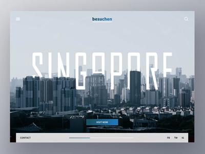 Travel UI landing play photoshop sketch type color travel social ux header ui singapore