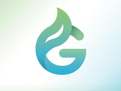 G branding corporate logo green