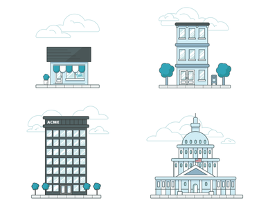 Building Icons federal corporate state local ui icons buildings