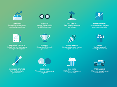 Company Culture UI careers culture flaticons user-focused ui ux