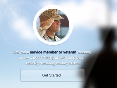 Hire Veteran website ui military