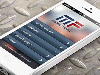 Military Friendly Mobile mobile iphone military ux ui web design branding