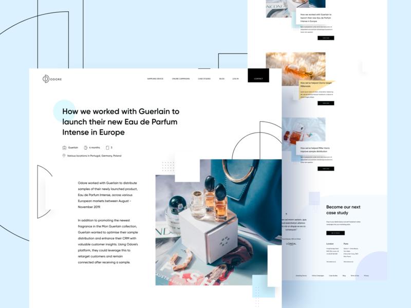 Odore Case Studies sampling design website web design ui ux perfume case study landing page homepage