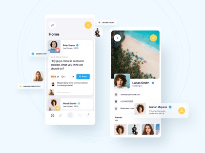 Circle App android ios local security community feed social ux ui mobile circle app design app