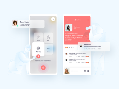 Circle - App circle mobile ux ui feed community security ios local app design android