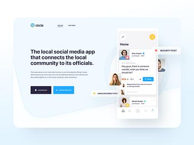 Circle - Website android ios app design desktop branding cirle web design homepage design system website landing page ux ui