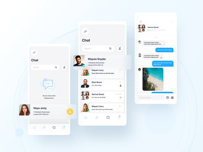 Circle - Chat circle app mobile ux ui chat community ios android