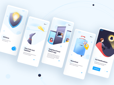Circle - Onboarding flow registration android ios illustration landing page app mobile ux ui