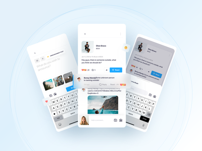 Circle - Post community android ios facebook post app illustration mobile ux ui