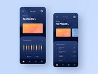 Banking App Dark Mode - Concept