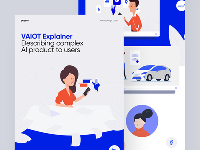 VAIOT Explainer vector artificial intelligence illustration animation video casestudy blockchain movie explainer motion