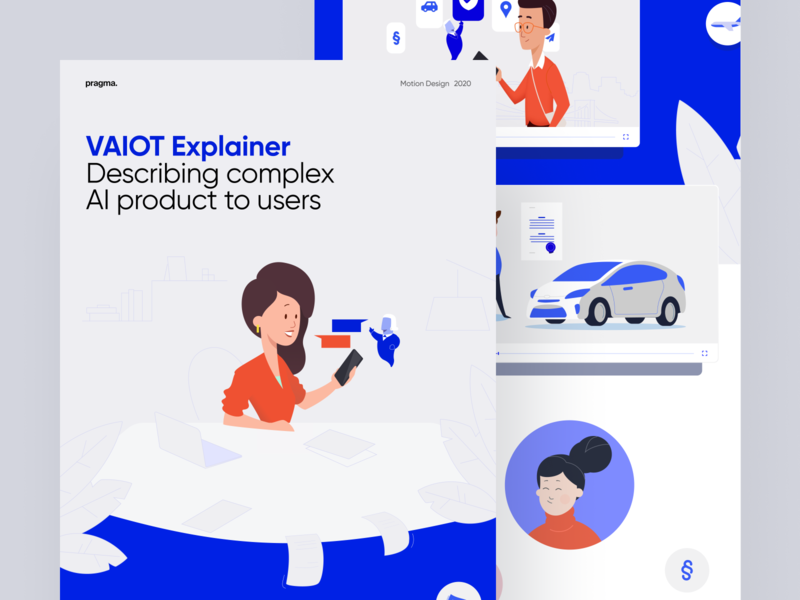 VAIOT Explainer vector artificial intelligence illustration animation video casestudy blockchain movie explainer motion