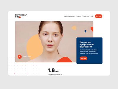 Depression awareness #2 ux branding illustration clean website design simple motion animation ui