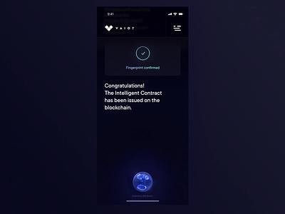 VAIOT App - authentication fingerprint recognition authentication blockchain motion ico artificial intelligence