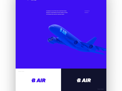 B AIR - interaction exploration animation clean 3d simple motion airlines