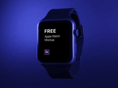 Apple Watch - animated mockup free freebie apple watch presentation animation mockup 3d