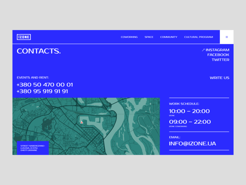 IZONE. Creative Space ui design typography web design