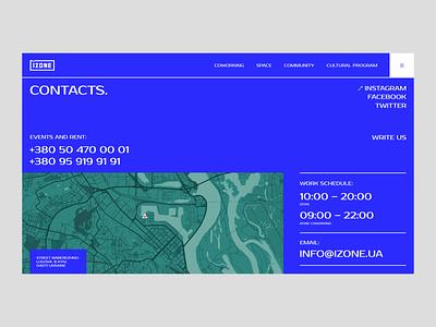 IZONE. Creative Space ui design typography web design