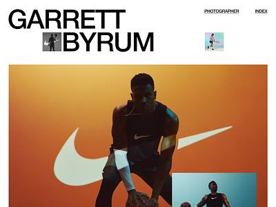 Garrett Byrum photographer design typography