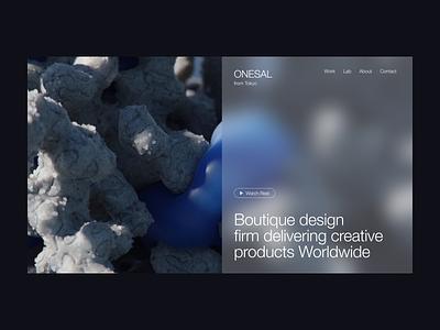 ONESAL 3d web design ui