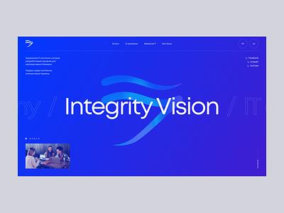 Integrity Vision concept web design ui