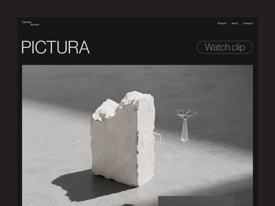Carmelo Barberá concept typography web design ui