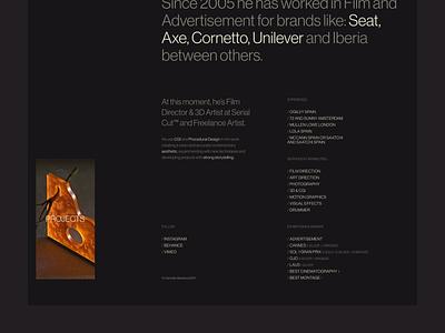 Carmelo Barberá ui concept typography web design