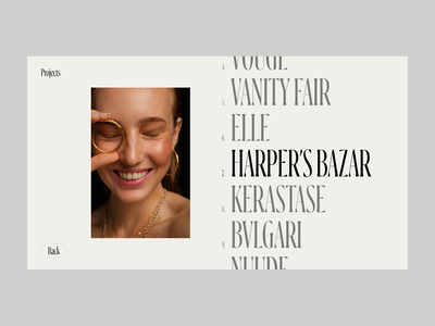 Anastasia Potapova concept typography web design