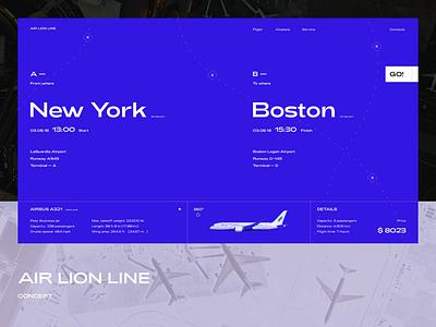 AIR LION LINE concept typogaphy web design