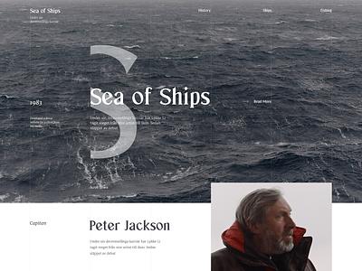 Sea Of Ships webdesign