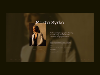 Marta Syrko design typography site webdesign