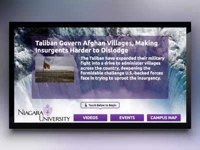 Niagara University Digital Signage